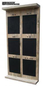 Planbord van steigerhout