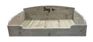 Dog's print op steigerhout