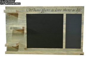 Wandbord van steigerhout met school en magneetverf