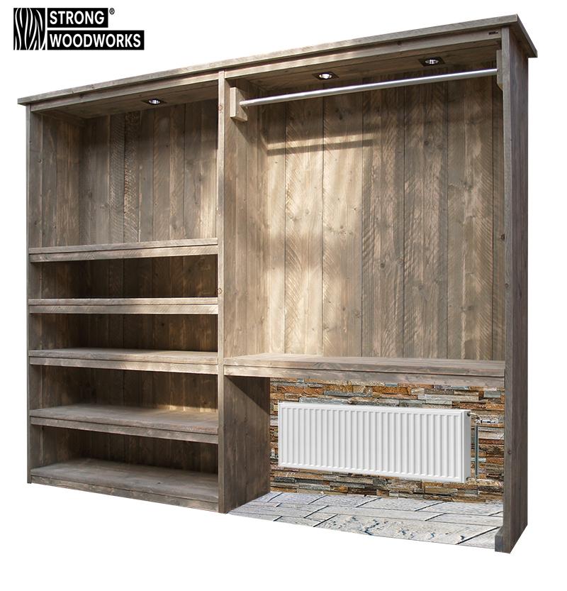 Schoenenkast En Kapstok In 1.Kapstok Van Steigerhout Strong Woodworks De Specialist