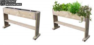 planten-kruidenbak van steigerhout