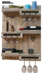 wand wijnrek van steigerhout 2