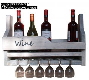 wijnrek van steigerhout type 1606