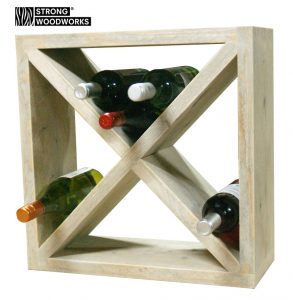 wijnrek vierkant van steigerhout