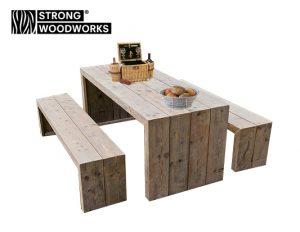 picknickset van steigerhout